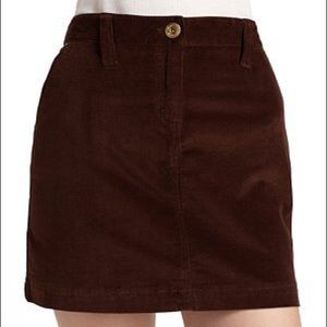 Vineyard Vines Brown Corduroy Mini Skirt. Size 4